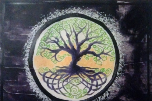 Welsh Tree (complimentary) acrylic