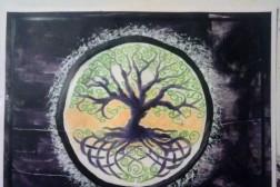 Welsh Tree comp acrylic