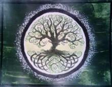 Welsh Tree (green) acrylic
