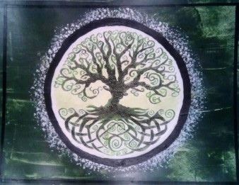 Welsh Tree green acrylic