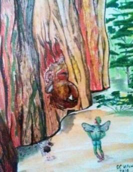 """CC Willow watercolor """"Wood He Say That Again"""""""