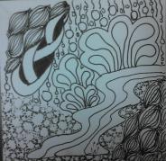 20131218 01 Zentangle 69 pigma ink on bristol paper Tavis Evans