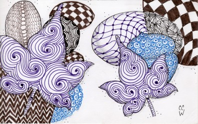 Tagled Fall zentangle by CC Willow