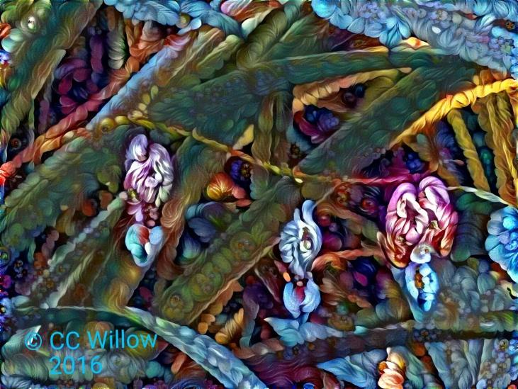 Bleeding Hearts Petals digital photography