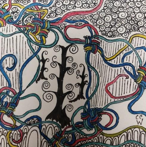 20170119 zentangle 216 ink & watercolor WB (2)