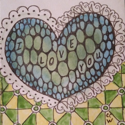 Zentangle 221 by CC Willow
