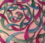 20170331b Zentangle 224 ink watercolor