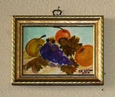 Asian Pears 1 watercolor framed 2