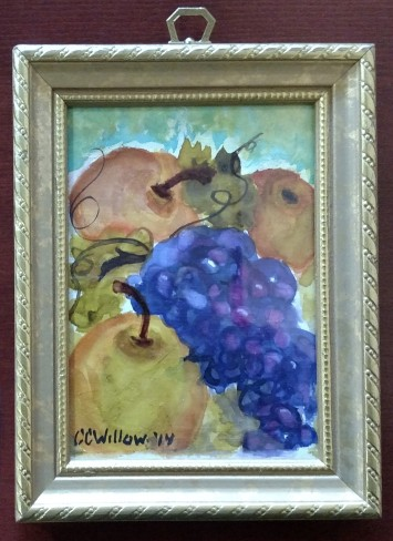Asian Pears 2 watercolor framed 1