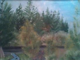 Memorial Day at Blowout Creek 9x12 acrylic