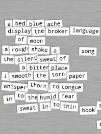 Blue Bed magnet poem