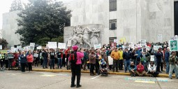 """Marchers chanting """"Science; Not Silent"""""""