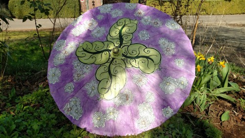 Cherry Blossom and Oak Leaves parasol