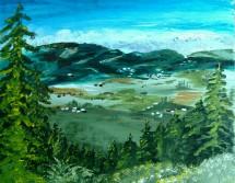 Doan's Vista acrylic en plein aire