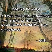 Driving To Work poem meme square