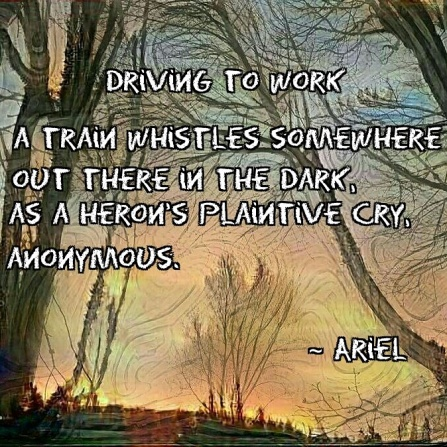 Driving To Work poem meme square
