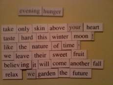 Evening Hunger magnet poem (2)