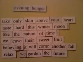 Evening Hunger magnet poem (2)