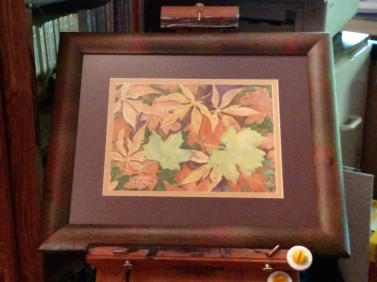 Fallen Leaves 3 framed easel 03