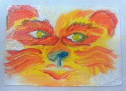 Firepaw 4x6 acrylic [in Private Collection}