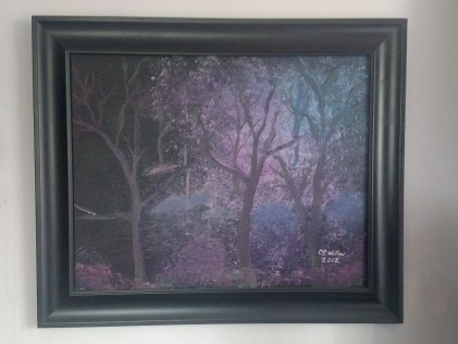 Forest at Night by CC Willow