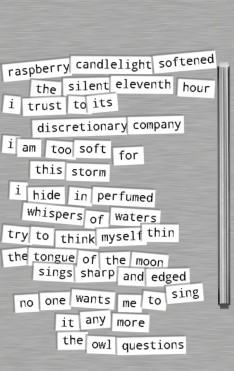 Left magnet poem cropped