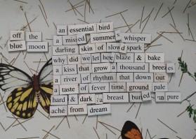 Off The Blue Moon magnet poem meme