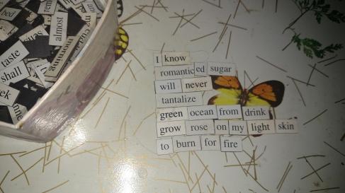 Romanced Sugar magnet poem