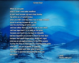 Screen Door poem meme square