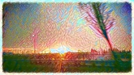 Floral Sunset digital photography