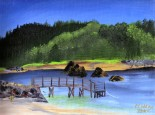 Taft Bay, Lincoln City 12x9 acrylic en plein aire