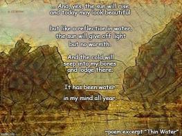 Thin Water excerpt poem meme