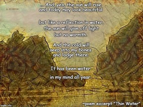 Thin Water excerpt poem meme