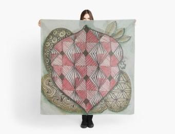 Zentangle 166 scarf