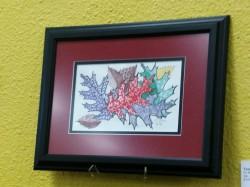 Zentangle 180 Tangled Leaves framed etsy
