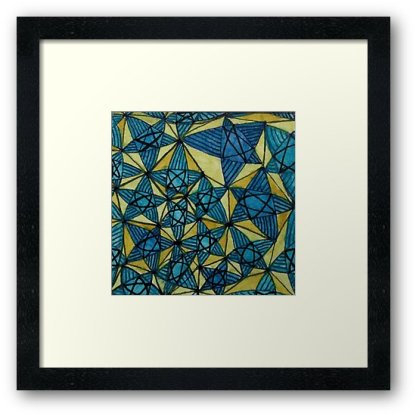 Zentangle 259 2framed art print