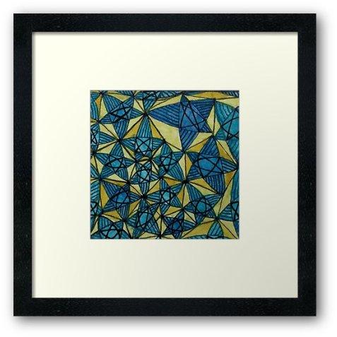 Zentangle 259 2framed art print