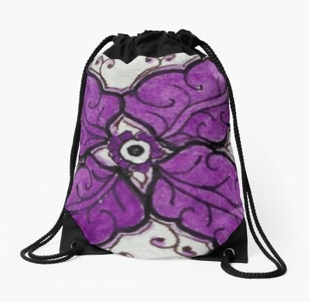 Zentangle 304 drawstring bag