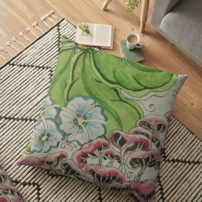 Zentangle 306 Forest Floor floor pillow