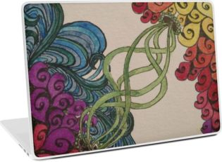 Zentangle 311 laptop skin
