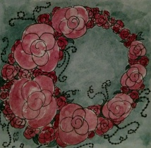 Wreath zentangle by CC Willow
