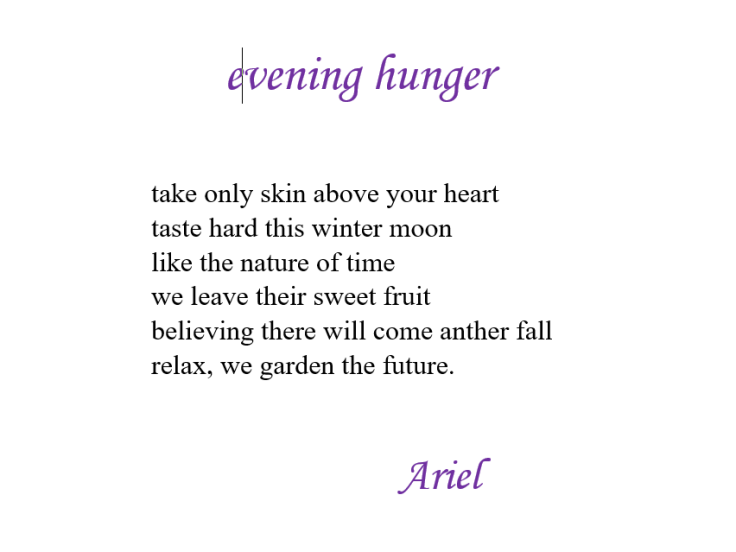 Evening Hunger