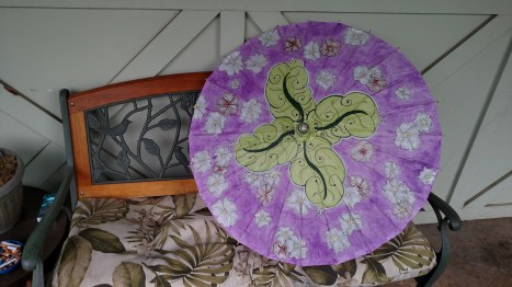 Cherry Blossoms & Oak Leaves parasol