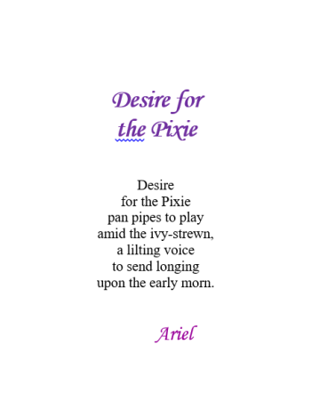 Desire for the Pixie