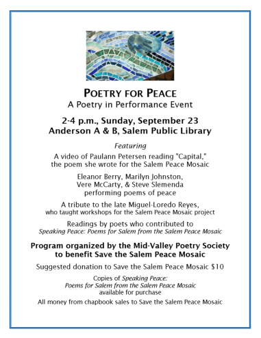20180923 Poetry For Peace Flier