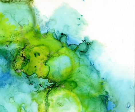 Surface alcohol ink
