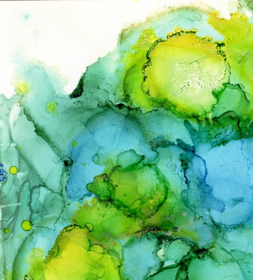 Planet Storm alcohol ink