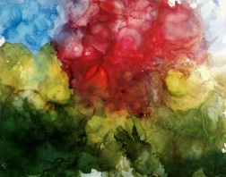 Bloom 8X10 alcohol ink & resin