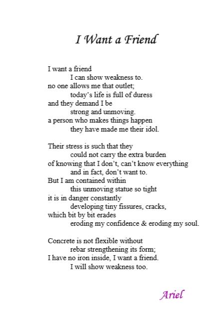 I Want a Friend by Ariel