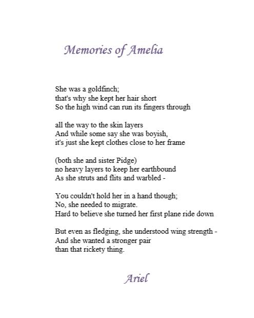 Memories of Amelia by Ariel